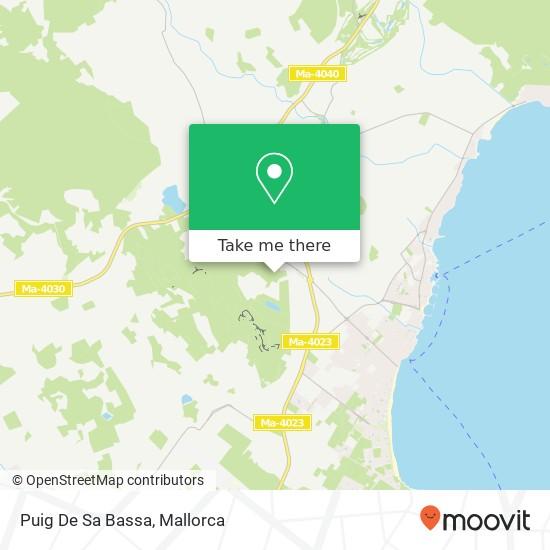 Puig De Sa Bassa map