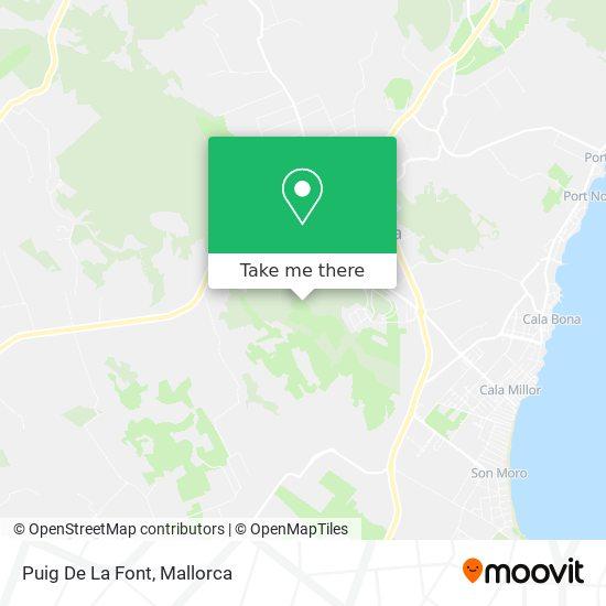 Puig De Sa Font map