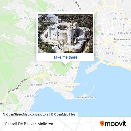 mapa Castell De Bellver