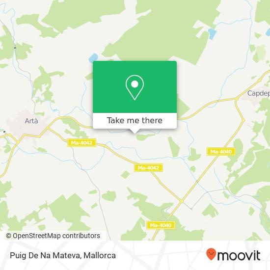 Puig De Na Mateva plan