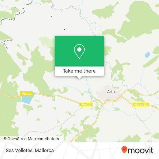Ses Velletes map