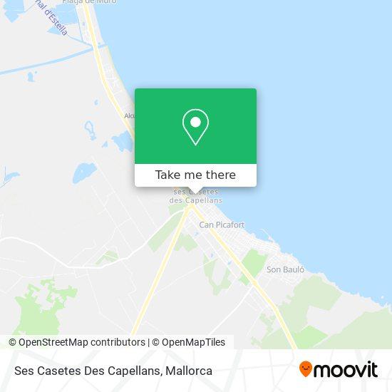 Ses Casetes Des Capellans map