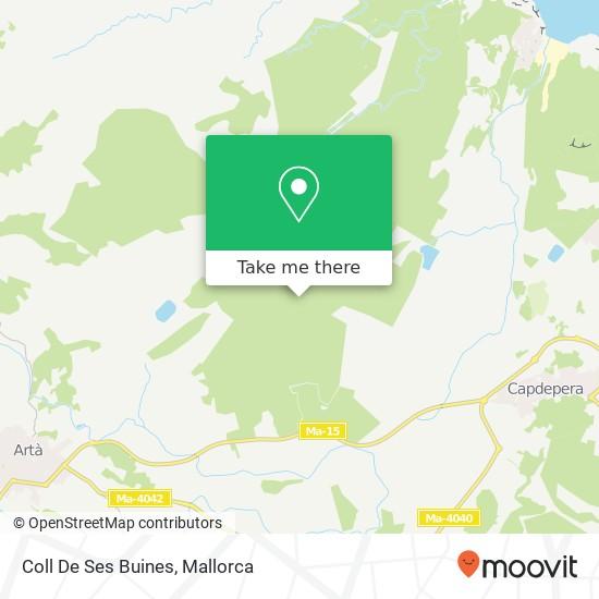 Coll De Ses Buines Karte