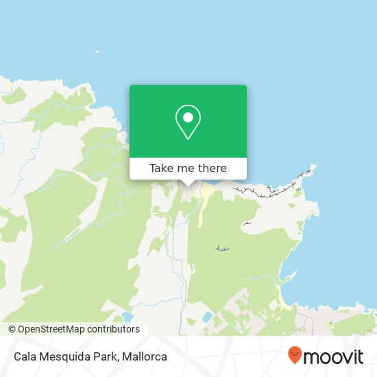 Cala Mesquida Park Karte
