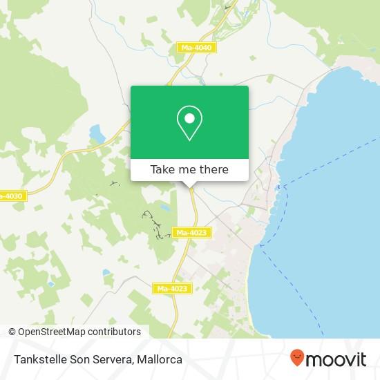 Tankstelle Son Servera map