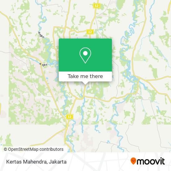 Kertas Mahendra map