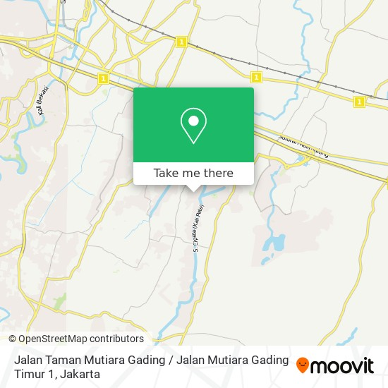 Jalan Taman Mutiara Gading / Jalan Mutiara Gading Timur 1 map