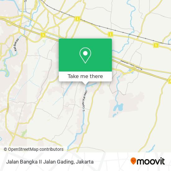 Jalan Bangka II Jalan Gading map