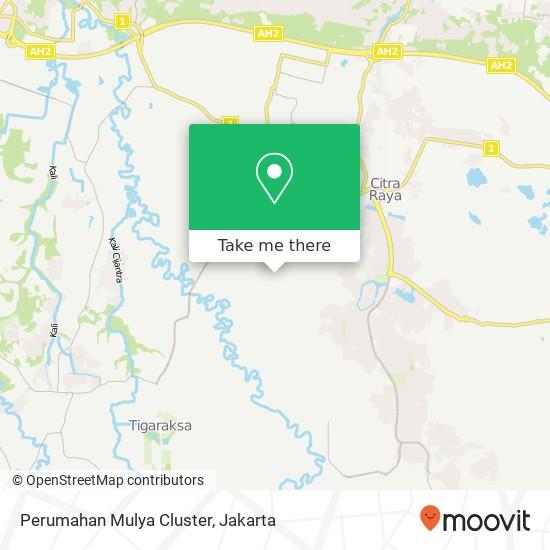 Perumahan Mulya Cluster, Cikupa map