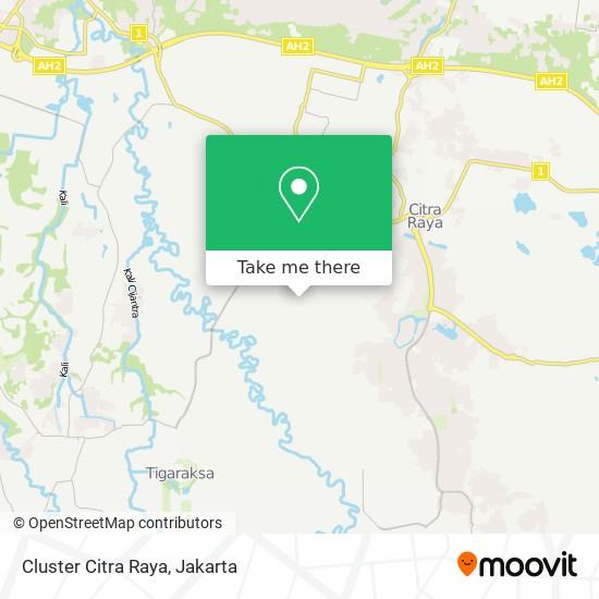 Cluster Citra Raya map