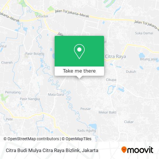 Citra Budi Mulya Citra Raya Bizlink map