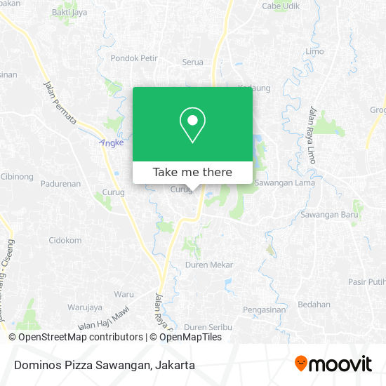 Dominos Pizza Sawangan map