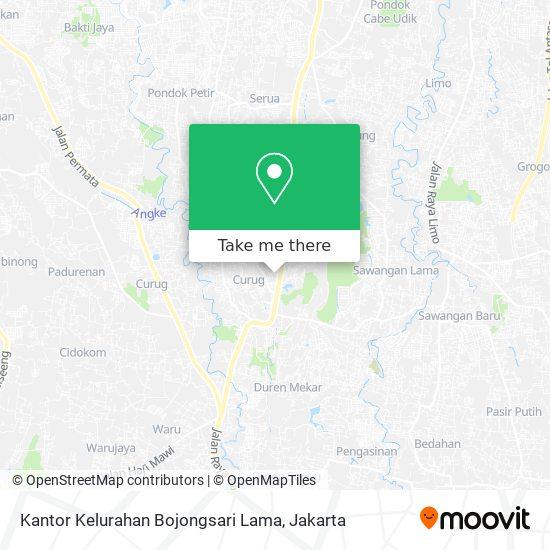Kantor Kelurahan Bojongsari Lama map