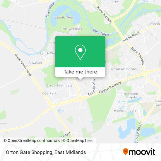 Orton Gate Shopping map