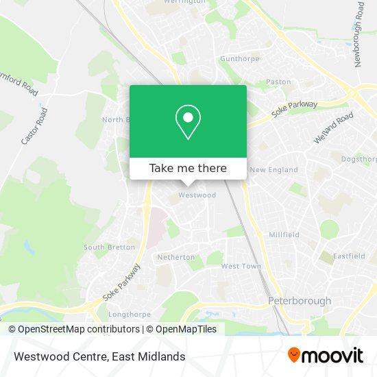 Westwood Centre map
