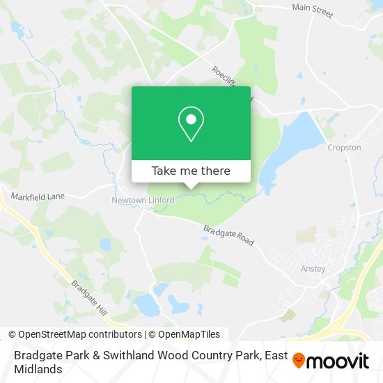 Bradgate Park & Swithland Wood Country Park map