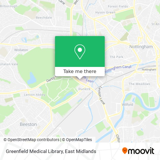Greenfield Medical Library map