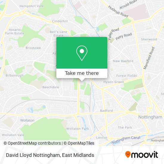 David Lloyd Nottingham map
