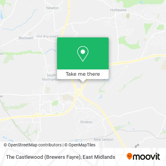 The Castlewood (Brewers Fayre) map
