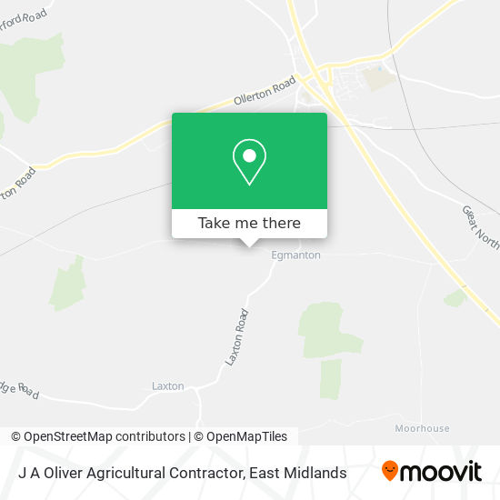 J A Oliver Agricultural Contractor map