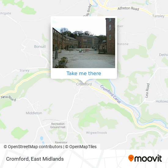 Cromford map