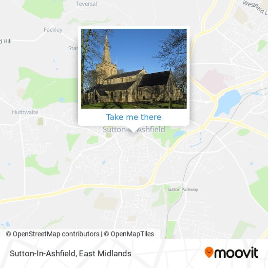 Sutton-In-Ashfield map