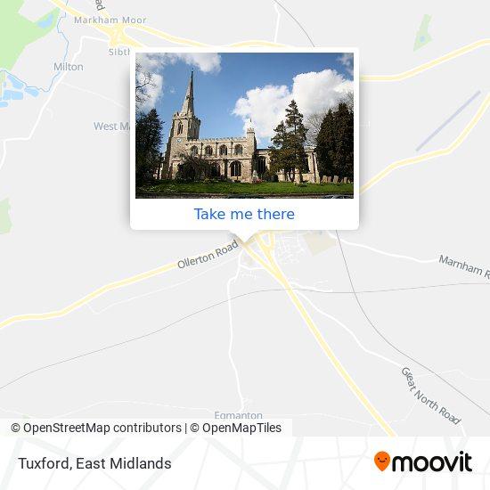 Tuxford map