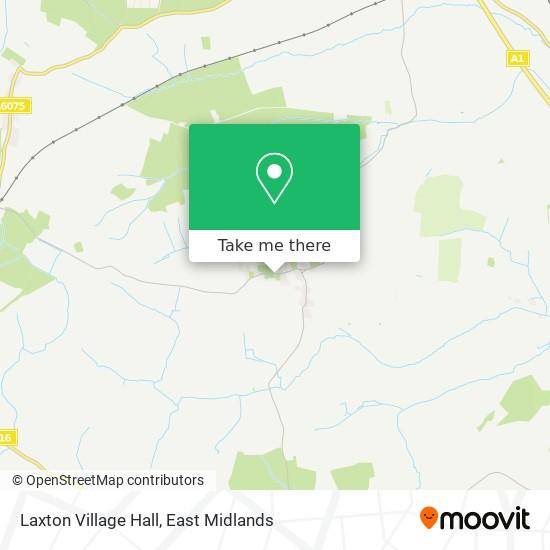 Laxton Village Hall map