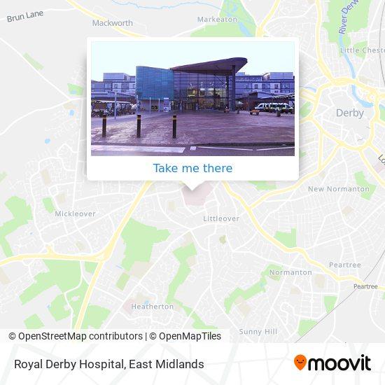 Royal Derby Hospital map