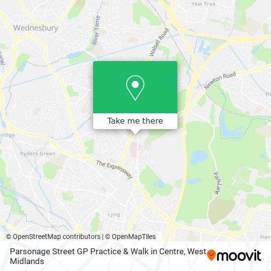 Parsonage Street GP Practice & Walk in Centre map