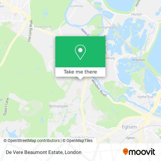 De Vere Beaumont Estate map