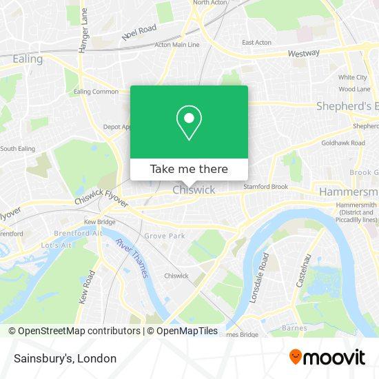 Sainsbury's map