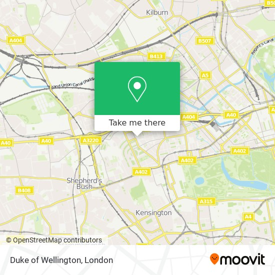 Duke of Wellington map