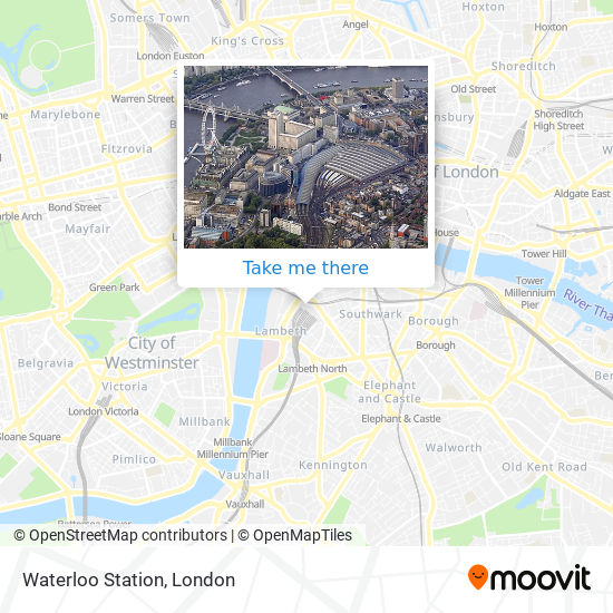 Waterloo Station map