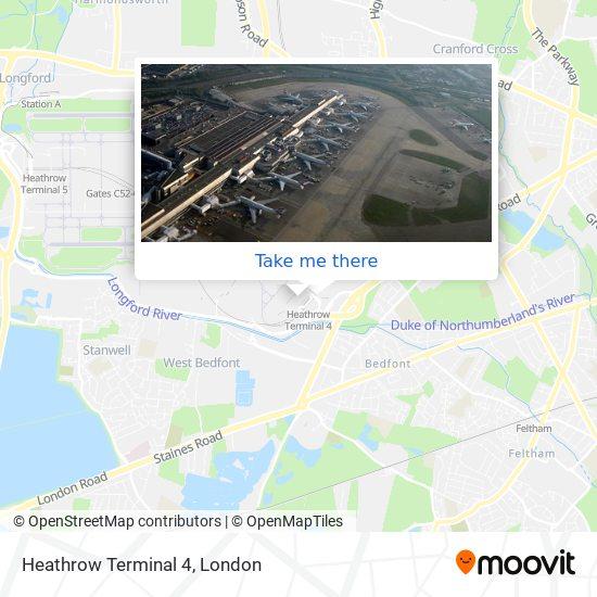 Heathrow Terminal 4 map