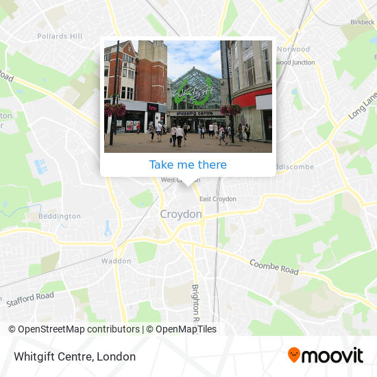 Whitgift Centre map