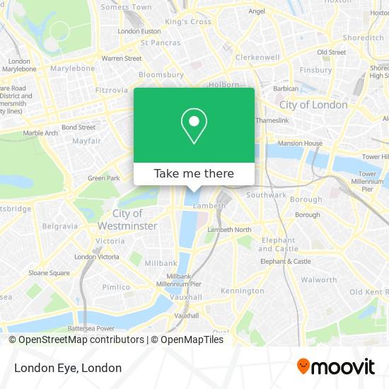 Londra Cartina.Come Arrivare A London Eye A Waterloo Con Bus Treno O Metropolitana Moovit
