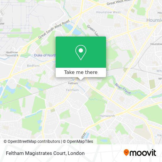 Feltham Magistrates Court map