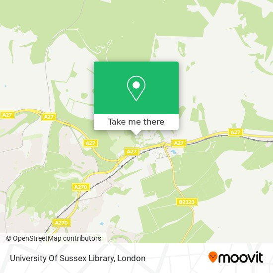 University Of Sussex Library map