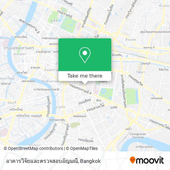 อาคารวิจัยและตรวจสอบอัญมณี map