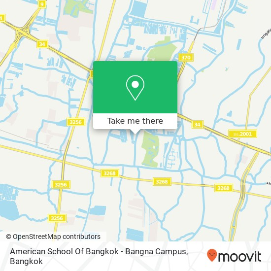 American School Of Bangkok - Bangna Campus map