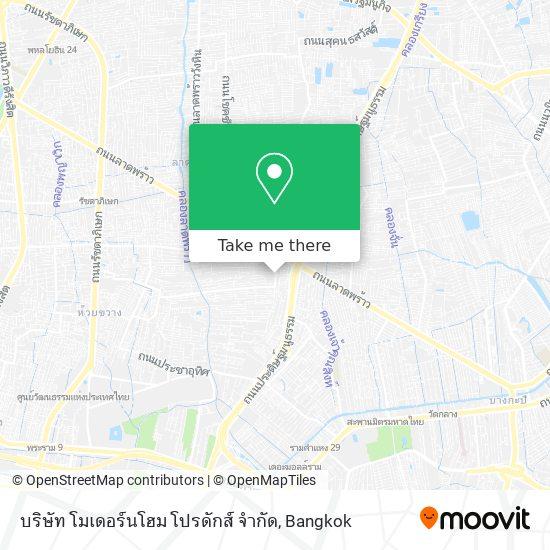 บริษัท โมเดอร์นโฮม โปรดักส์ จำกัด map