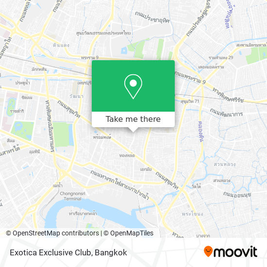 Exotica Exclusive Club map