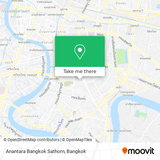 Anantara Bangkok Sathorn map