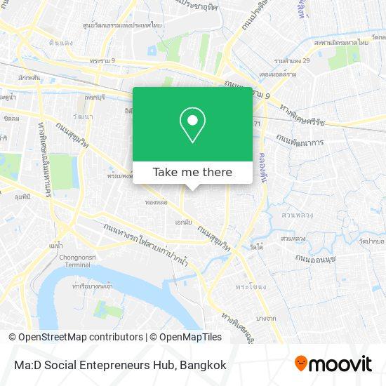Ma:D Social Entepreneurs Hub map