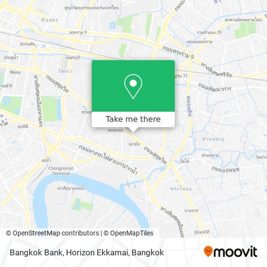 Bangkok Bank, Horizon Ekkamai map