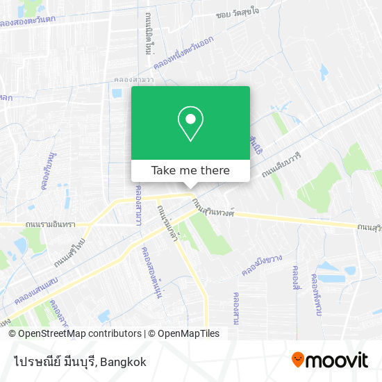 ไปรษณีย์ มีนบุรี map