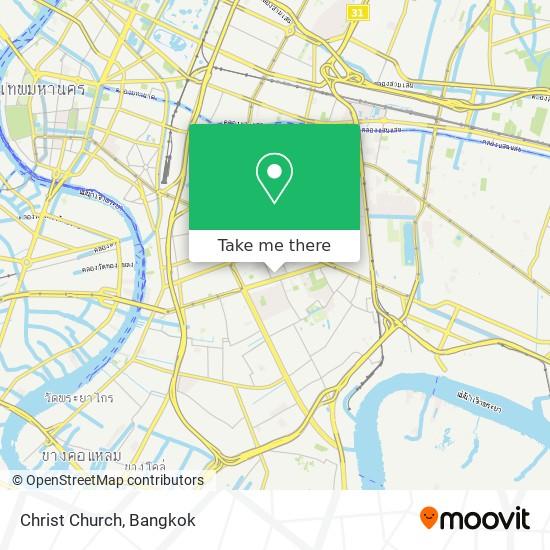 Christ Church map