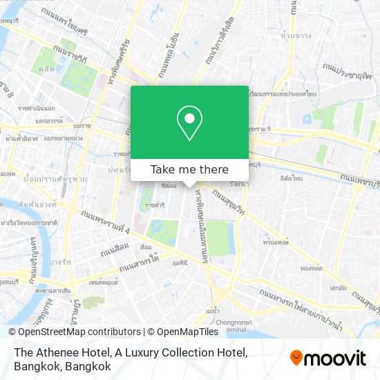 The  Athenee Hotel, A Luxury Collection Hotel, Bangkok map