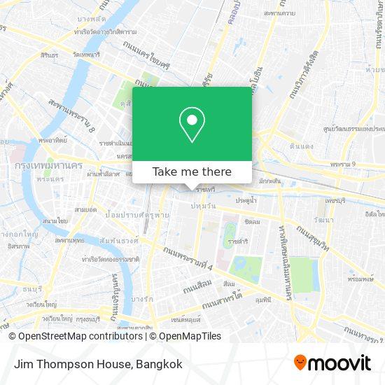 Jim Thompson House map